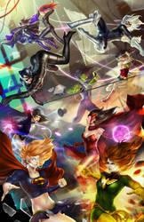 Women Of Dc vs Marvel by alex-malveda