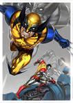Wolverine x Colossus by alex-malveda