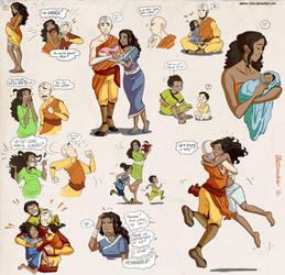 Kataang family bits by Aleccha