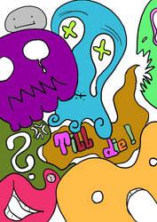 Hoodie Design Front 'Till Die' by Sadhedgehog