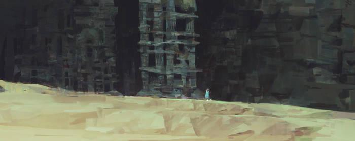 Preproduction Sketch for Motiga's Gigantic by TomScholes