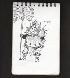 [INKTOBER] Executioner Smough | Sketch no. 14 by JonDoesArt