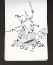 [INKTOBER] Sloth | Sketch no. 21 by JonDoesArt