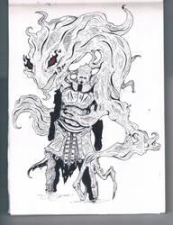 [INKTOBER] Iudex Gundyr | Sketch no. 22 by JonDoesArt