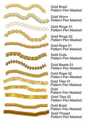 Gold Brushes 01 for Corel Painter FREE by Buntin