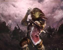 Goblin Chieftain by JohnSilva