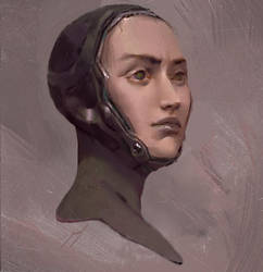 Portrait sketchperiment by JohnSilva