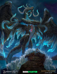 Water dragon by JohnSilva