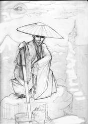 Chien, monk of Hotei by Shoujiko