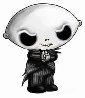 Stewie Skellington by HalloweenBloodyQueen
