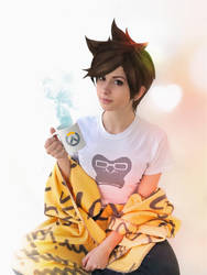 Casual Tracer - Overwatch by SilviaArts