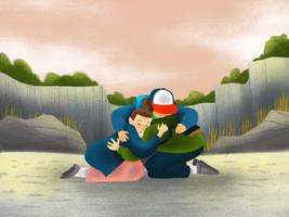 Stranger Things Group Hug by supercheyne
