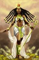 The Egyptian Goddess of Beauty, Hathor by RyuunoTaisho