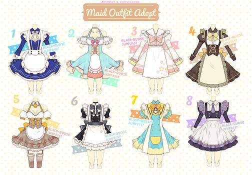 [CLOSED] Maid Outfit Adoptable #11 by Black-Quose