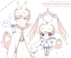 [CLOSED] Bunny Sleep Mask Adoptable Auction by Black-Quose