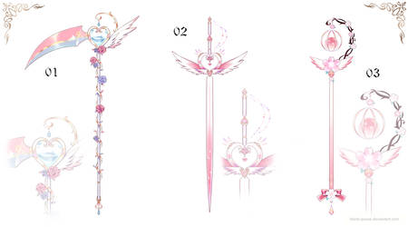 [closed] Magical Girl Weapon Adopt | set price by Black-Quose