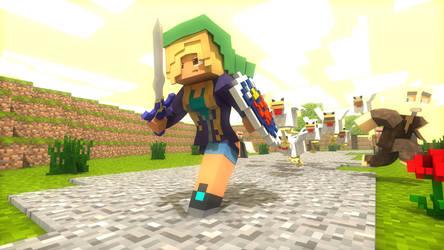 Do not hurt Cuccos (Minecraft+LegendOfZelda) by Carro1001