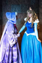 Sleeping Beauty Cosplay Aurora Princess Disneyland by ClaireSea