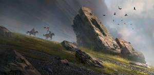 Riding through the ruins by wwysocki