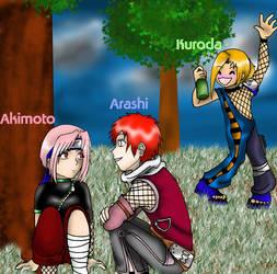 Arashi, Akimoto, and Kuroda by kikikun
