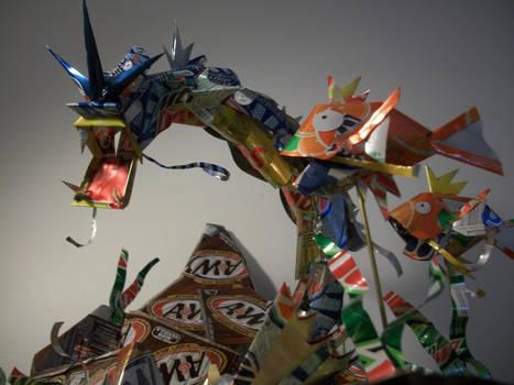 Gyarados n Karps Can Sculpture by Cryoprime