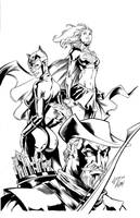 Dc characters inks by madman1