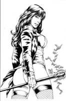 Zatanna2 inks by madman1