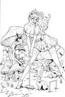 Wonderland Mushroom inks by madman1