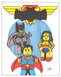 DC Trinity colors by madman1