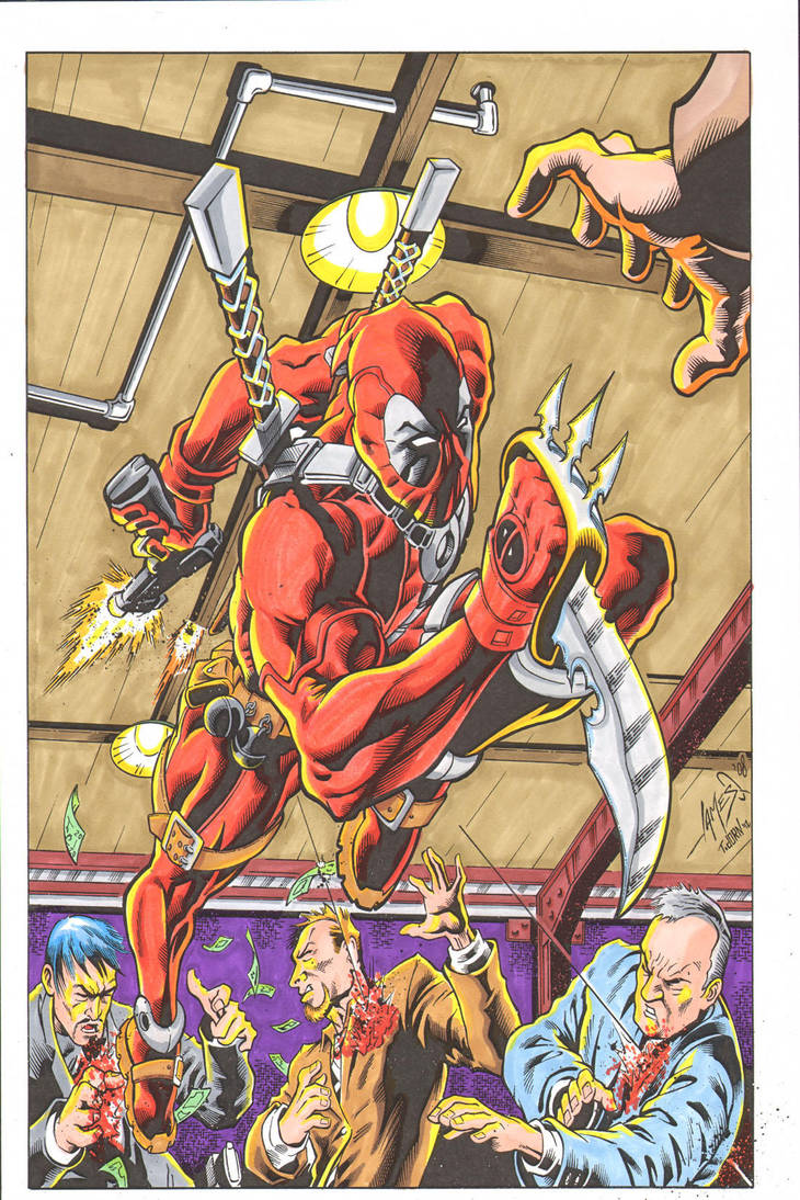 Deadpool 1 colors by madman1