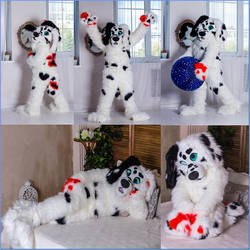 Fursuit for Sale English setter by yiffFox
