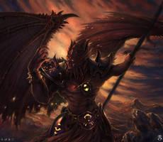 Kil Jaeden The Deceiver by Elthenstorm