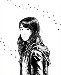BnW portrait by Elthenstorm