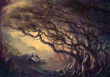 Sleeping dragon by Elthenstorm