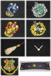 Hogwarts table-cloth by binechan