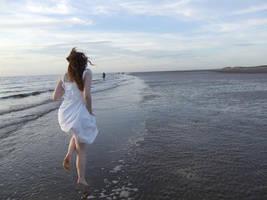 Running On The Beach by whatsbestfornigel