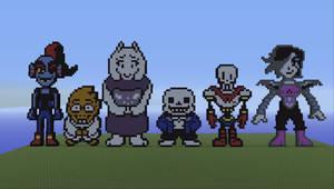 Undertale Characters Pixel Art Pixel Art De Chien Pixel Art