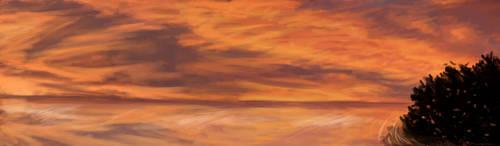 Sunset lake by Chalybis