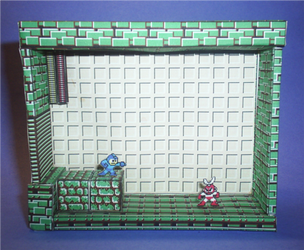 Megaman Vs. Cutman stage by sgonzales22