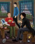 Spellock (Spock, Sheldon, Sherlock) by MellodyDoll