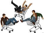 Supernatural: Shopping Carts by MellodyDoll