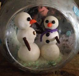 Snowman Ornament by GildedLotusShop