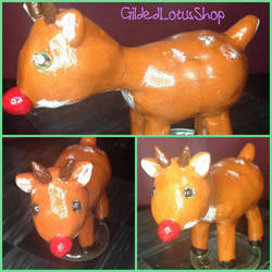 Ruddy the Reindeer by GildedLotusShop