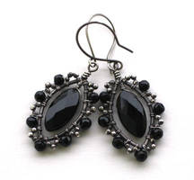 marquise onyx earrings by annie-jewelry