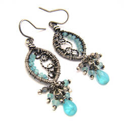 apatite labradorite earrings by annie-jewelry