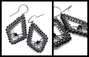 silver onyx earrings by annie-jewelry
