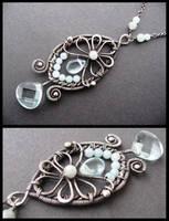 silver aqua necklace by annie-jewelry