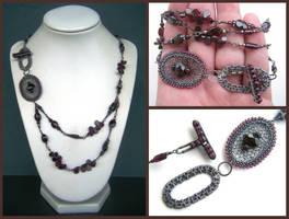 garnet necklace by annie-jewelry