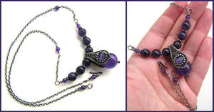 silver amethyst necklace by annie-jewelry