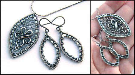silver marquise set by annie-jewelry